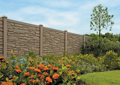 Brown Granite Style Fence